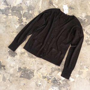 NWT Halogen Brown Merino Wool Cardigan Sweater